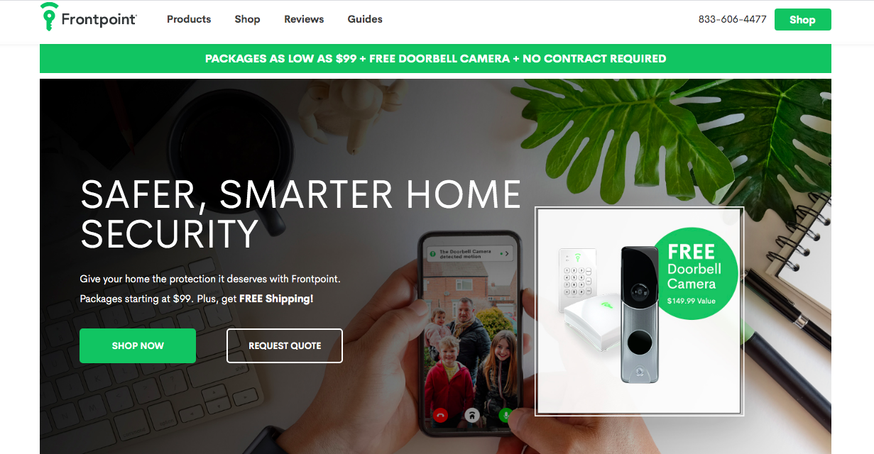 main page Frontpoint Smart Security