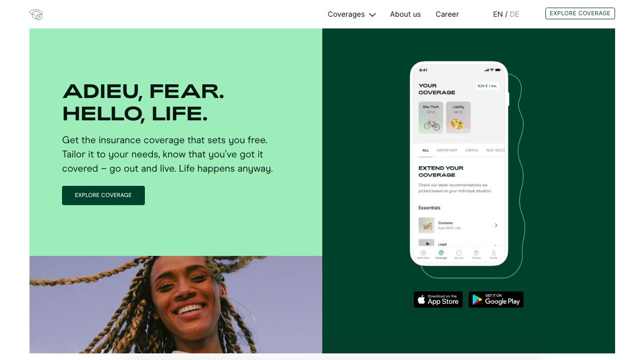 GetSafe main page