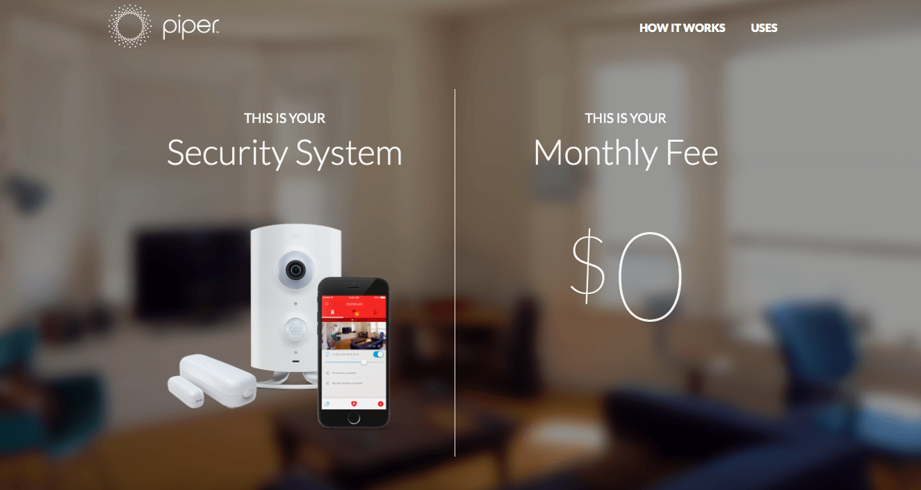 Piper Home Security main page