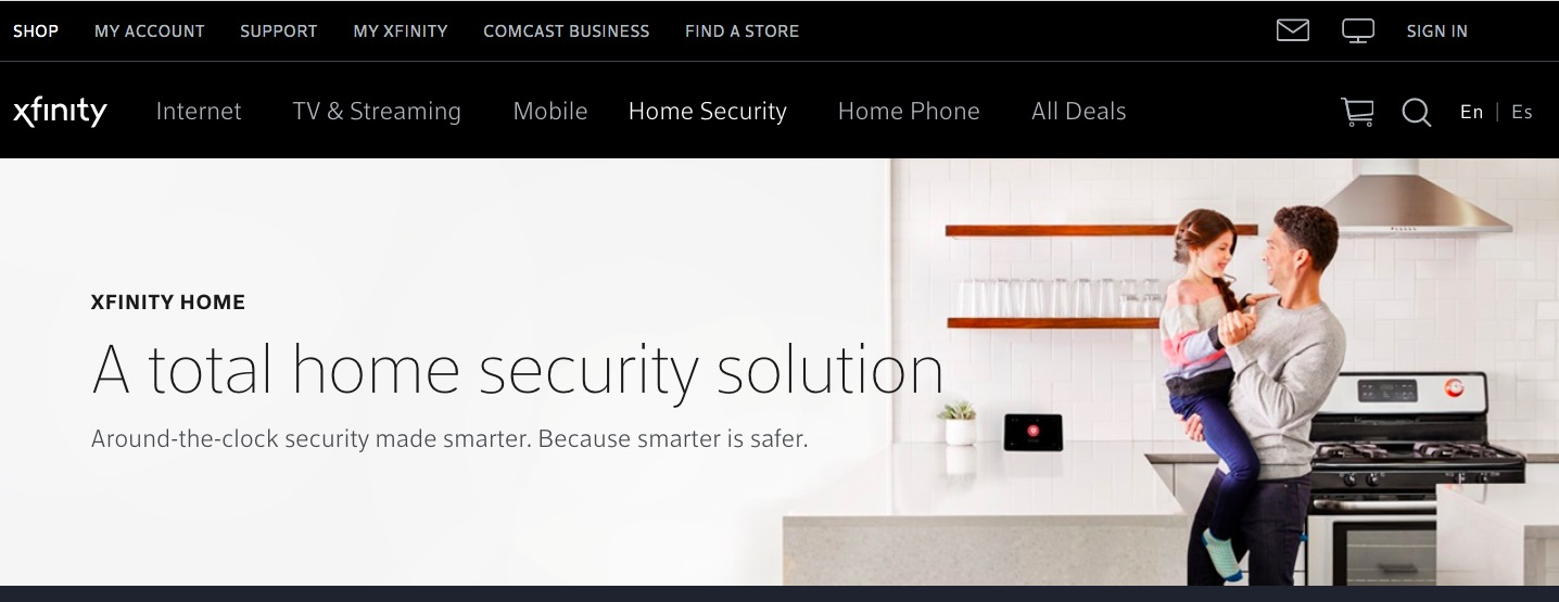 Xfinity main page