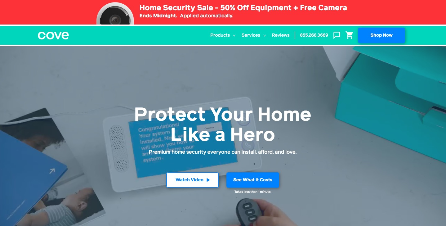 Cove Security main page
