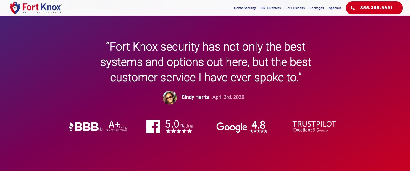 fort knox security testimonial